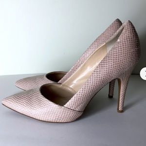 Nude texture guess pumps